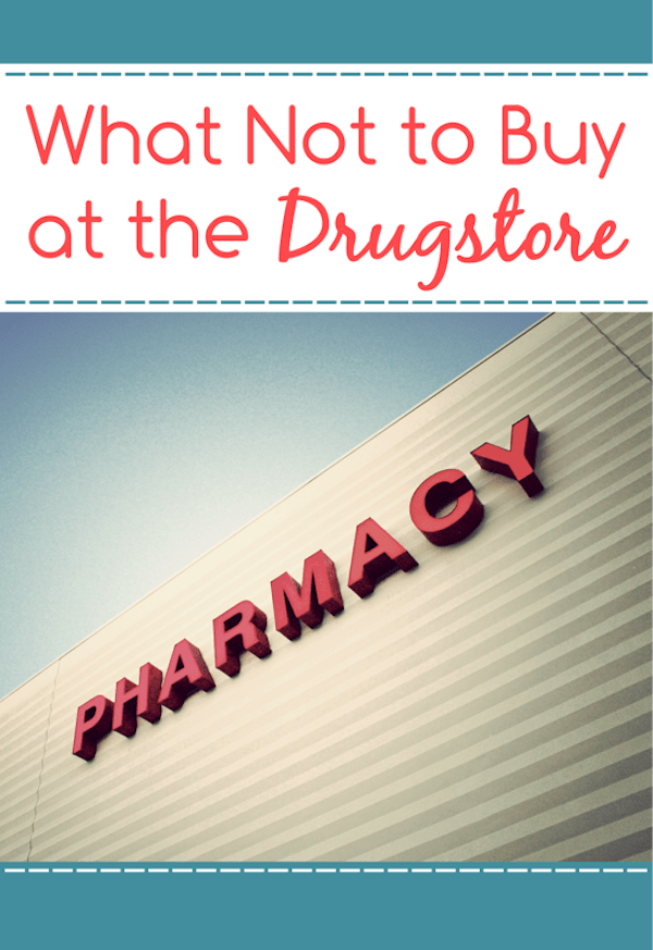 What to never to buy at the drugstores to ensure you are saving the most on your grocery budget! Learn how to save money on groceries, and where to find the best deals! via @AndreaDeckard