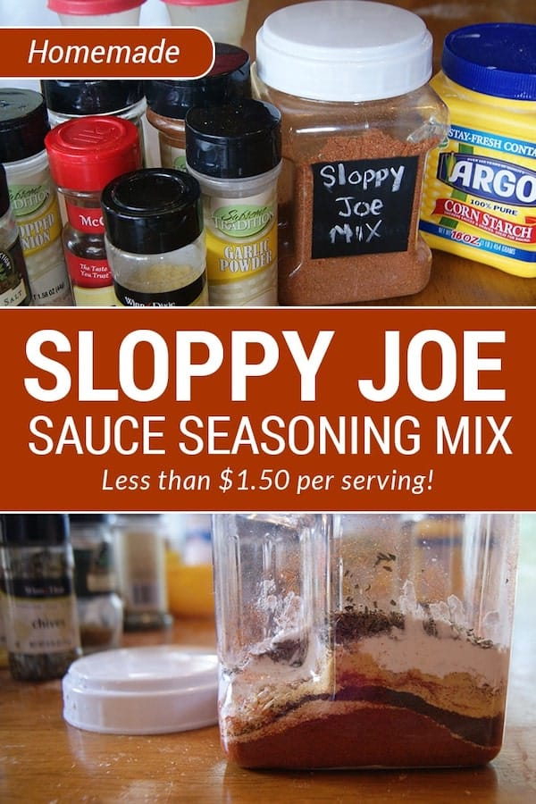 This sloppy joe seasoning recipe uses pantry staples. It is less than $1.50 per serving AND much healthier than store-bought! via @AndreaDeckard