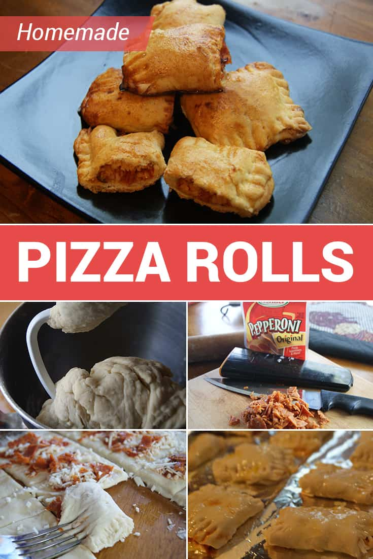 These homemade pizza rolls are made from scratch with a few simple pantry staples. Make a big batch ahead of time and freeze for when your teen's big appetite needs a snack fast! via @AndreaDeckard