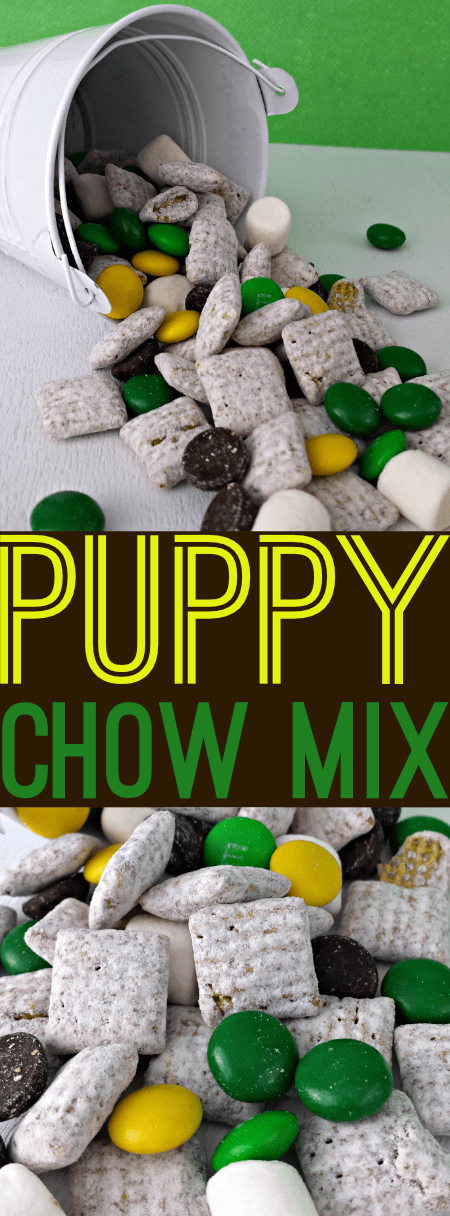 Super simple recipe for this Puppy Chow Mix! Mix and match your favorite sweet treats to come up with a unique mix of your own!