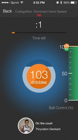 Smart Sensor Basketball Dribbling Drills