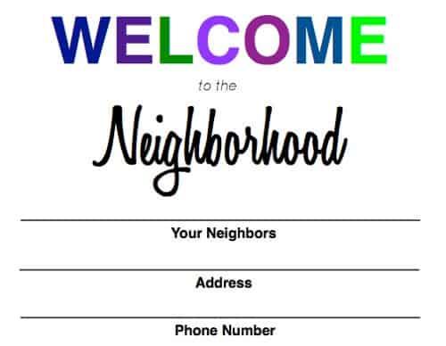 Welcome to the Neighborhood Baggie - Savings Lifestyle