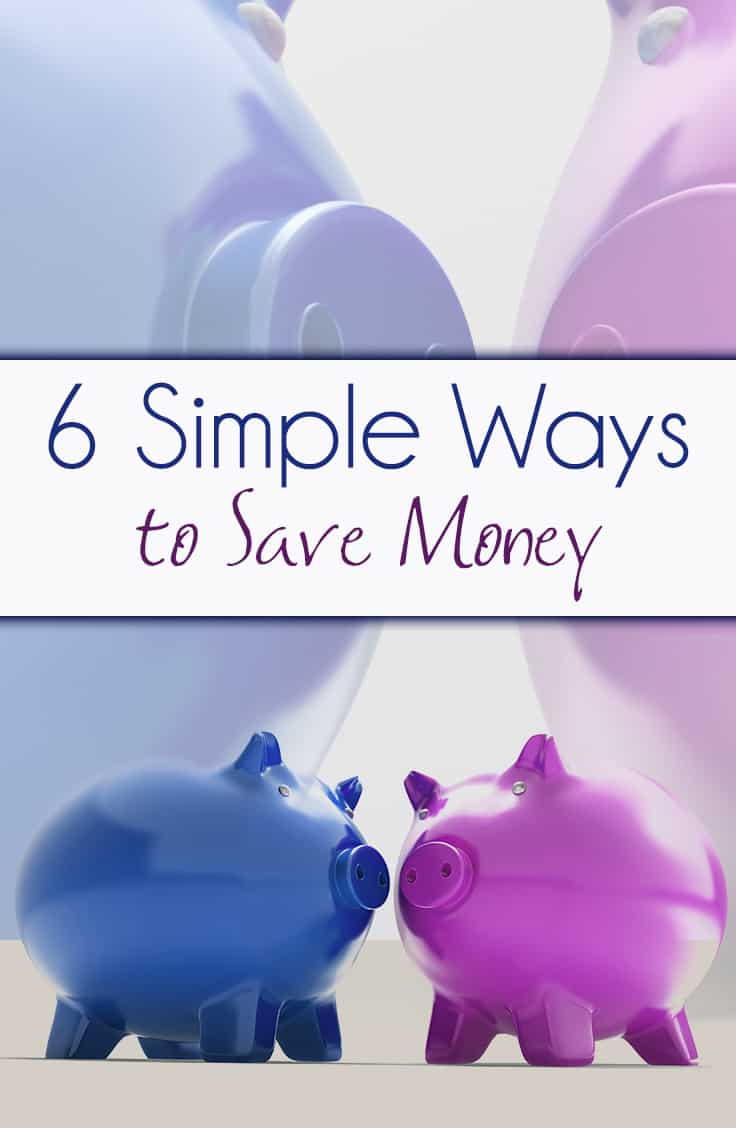 Saving money ideas - each will help you save at least $20! This post offers 6 saving money tips, including a saving money challenge!