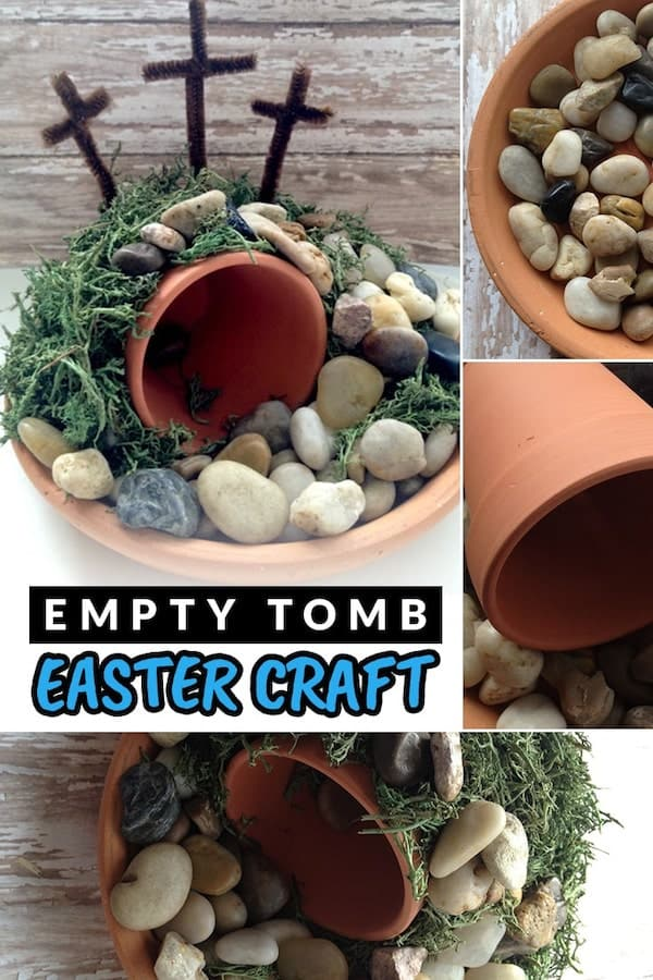 This empty tomb Easter craft will help young children understand the resurrection. This is an easy craft for preschoolers or an elementary-age Sunday school class! via @AndreaDeckard