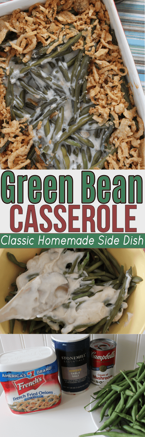 You can't beat a yummy Green Bean casserole! This classic homemade side dish is a staple in our family!