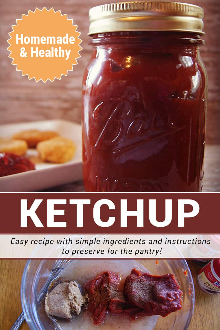 This homemade and healthy ketchup recipe is a KEEPER! Learn how to preserve this food staple for the pantry in the post. via @AndreaDeckard
