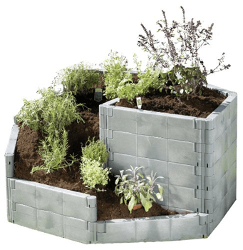 Exaco Trading Herb Spiral Raised Garden Bed