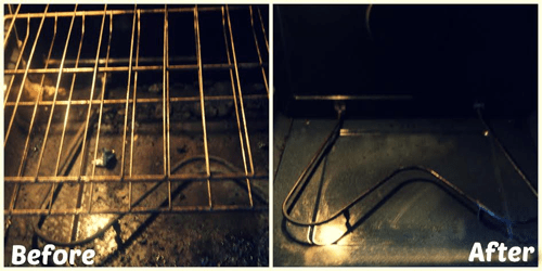 Oven Cleaner Before and After