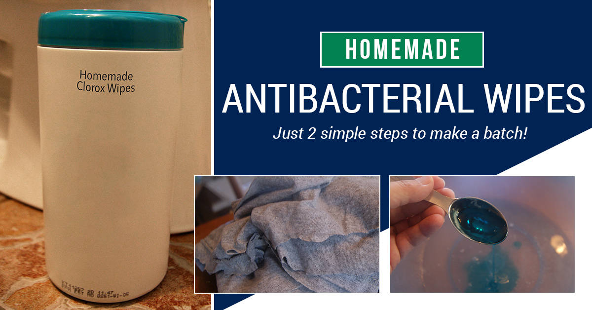 Make your own antibacterial wipes better than Clorox! This is a safer and healthier version to continue to make yourself!