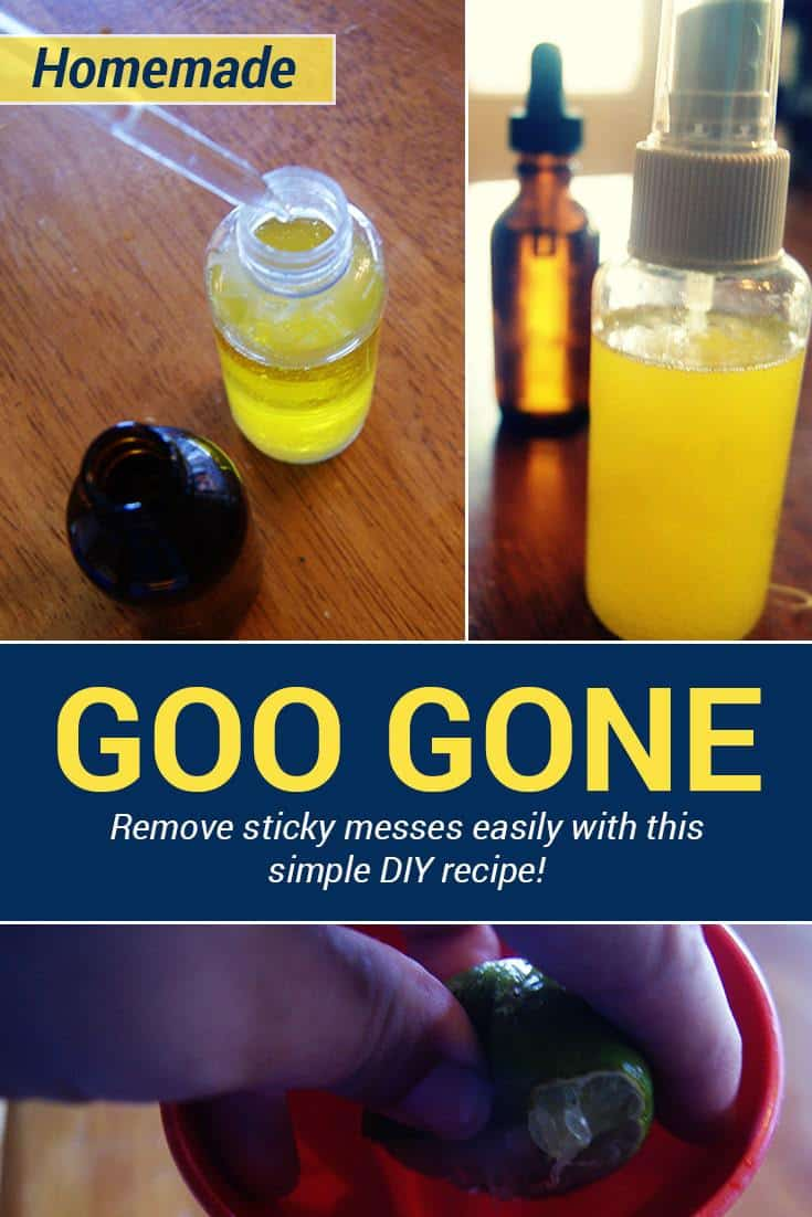 Get that sticker residue off with this homemade Goo Gone recipe! This will work on plastic, glass, metal, books as well as removing gum, candy or paint from carpet too! via @AndreaDeckard