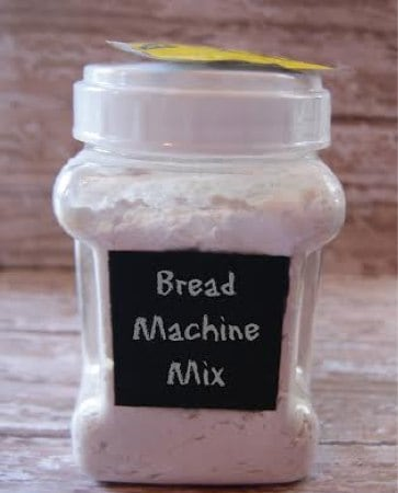 This bread machine bread recipe is a great recipe to use up your pantry staples. Keep a few mixes on hand so you can make fresh homemade bread at anytime!
