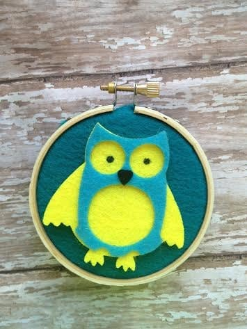 Embroidery Hoop Owl