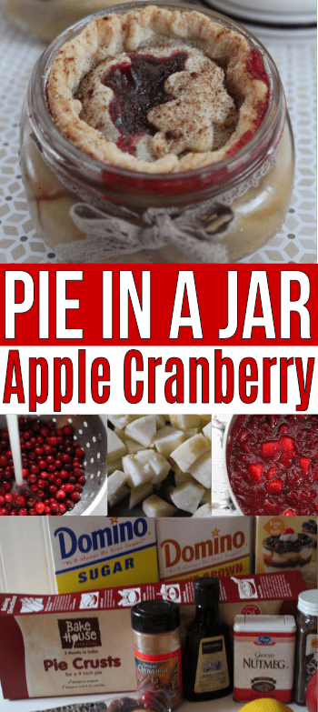 You will want to add this Apple Cranberry pie in a jar to your dessert rotation this season! Easy and delicious!
