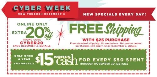Kohls Cyber Monday Sales and Deals