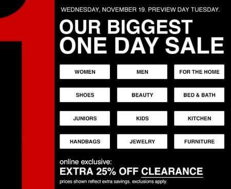 Macys One Day Pre-Black Friday Sale