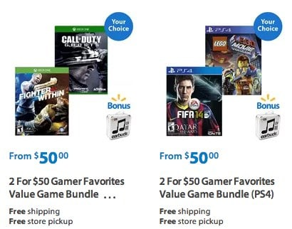 Xbox One and PS4 Game Bundles