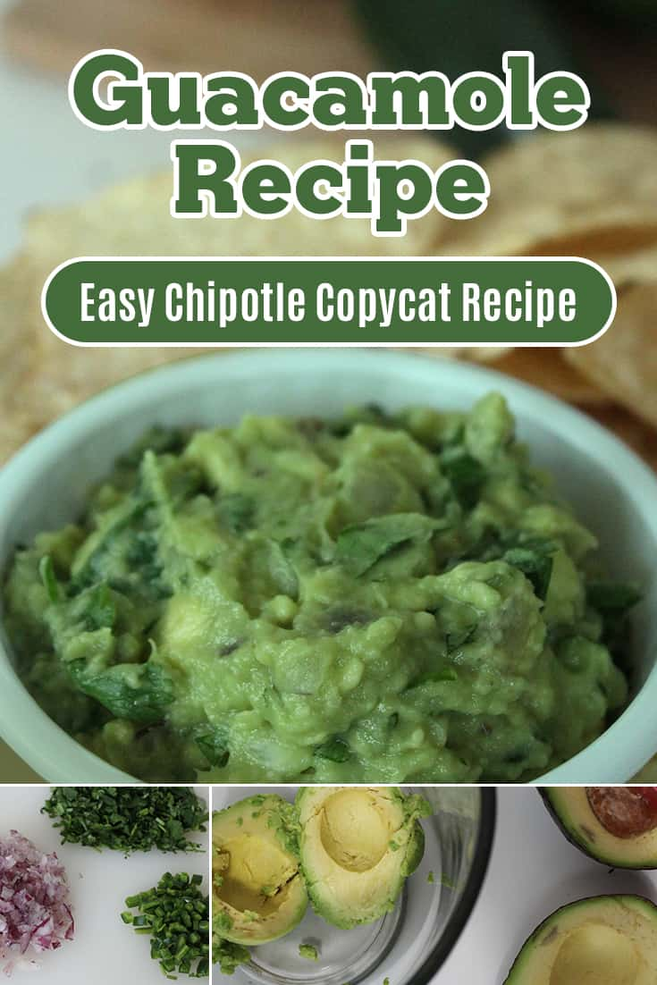 Chipotle Copycat Guacamole Recipe via @AndreaDeckard