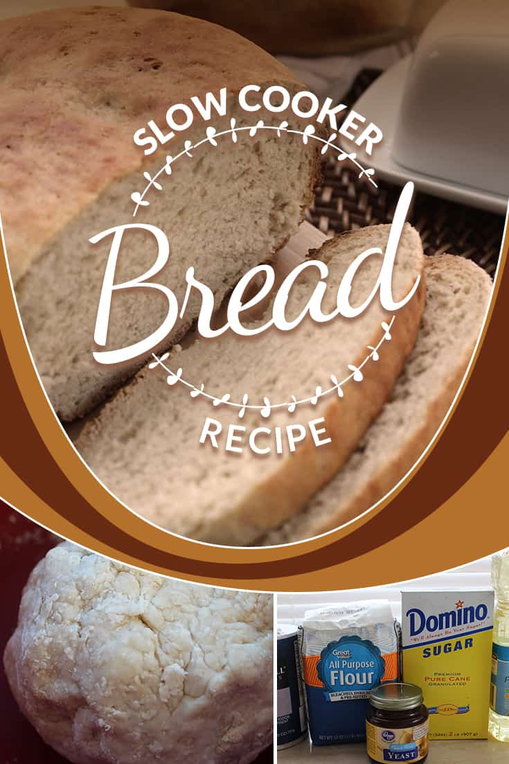 This homemade bread recipe is easy and can be finished in under 2 hours in your crockpot! Grab your pantry staples and enjoy some fresh homemade bread! via @AndreaDeckard