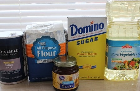 Ingredients for Bread in a Crockpot