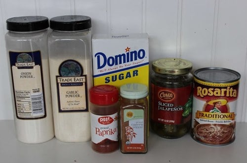 Ingredients for Homemade Frito Bean Dip