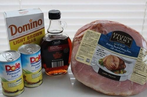 Ingredients for Honey Baked Hame
