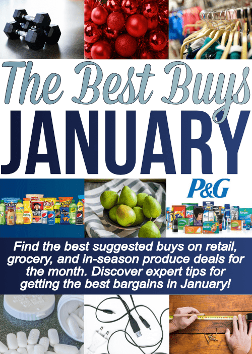Epic list of What To Buy When, specifically what to buy in January. Find the best buys to pick up this month on retail, grocery and after Christmas sales. Start the new year saving the most money possible!