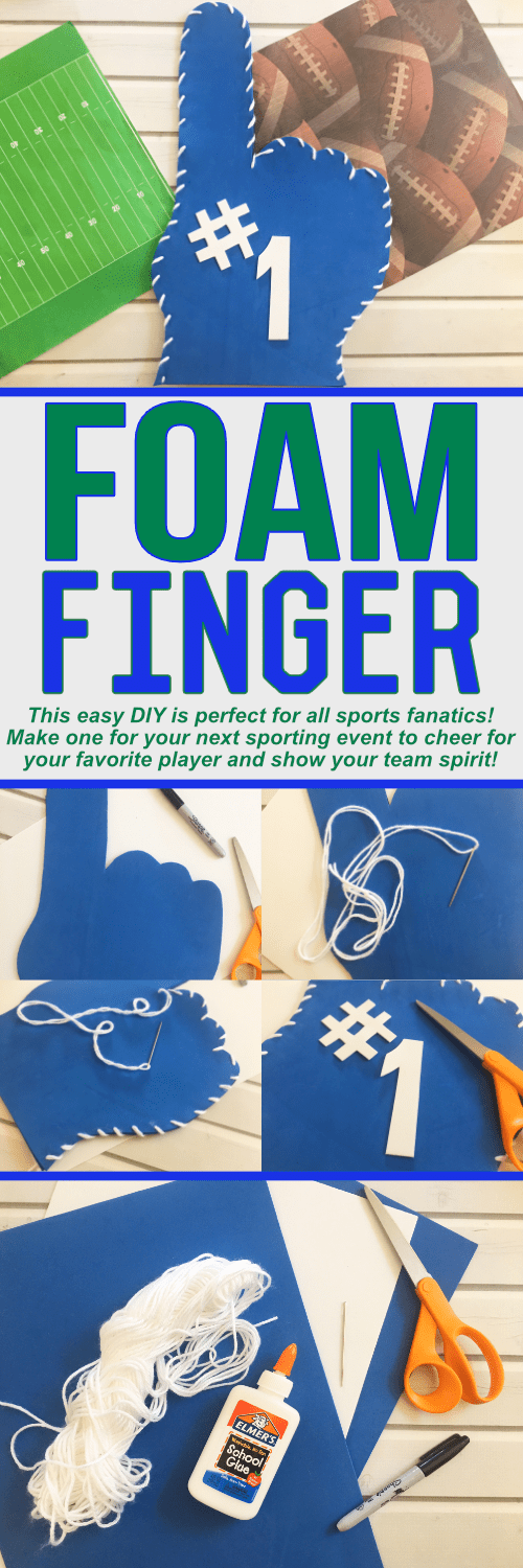 Make your own Foam Finger with these easy DIY instructions! GO TEAM GO!