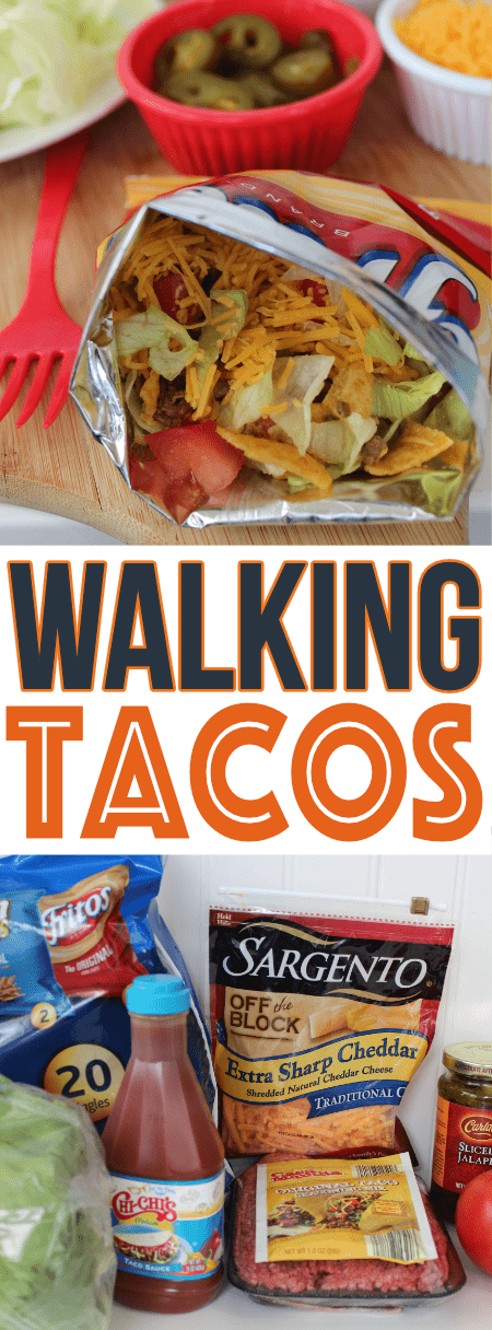 These easy walking tacos will be on the menu rotation weekly! Super easy and always a family favorite!