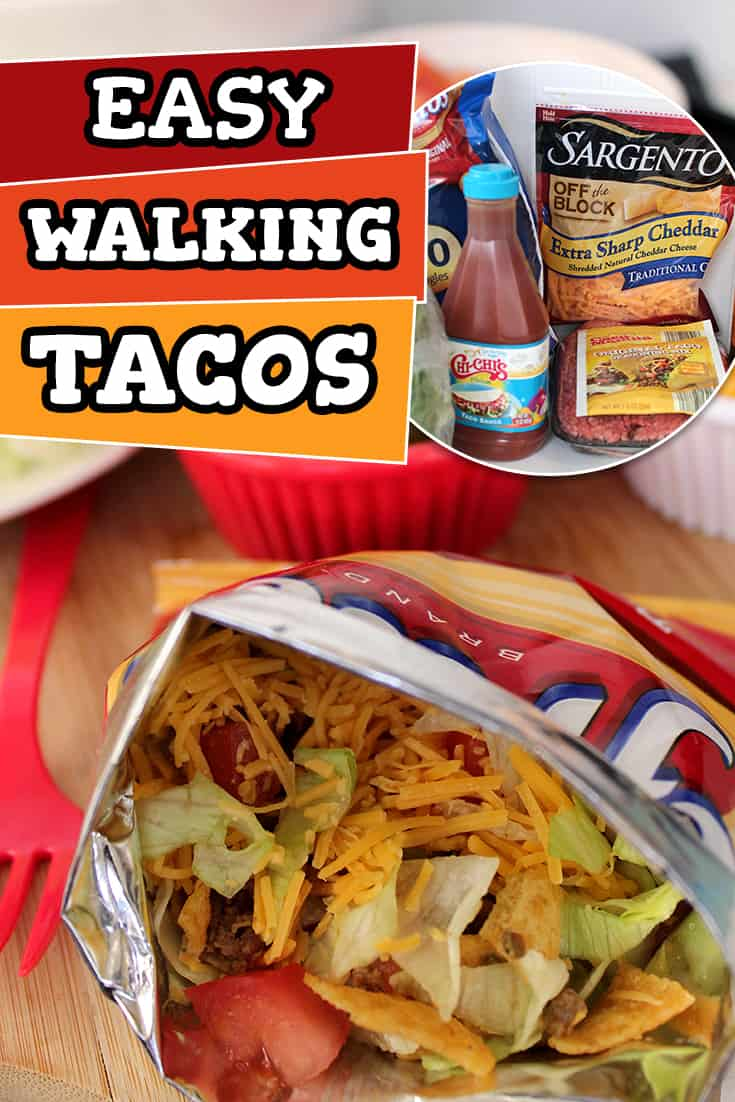 These easy tacos in a bag will be on the menu rotation weekly! Super easy to make at home or for a concession stand menu item!  via @AndreaDeckard