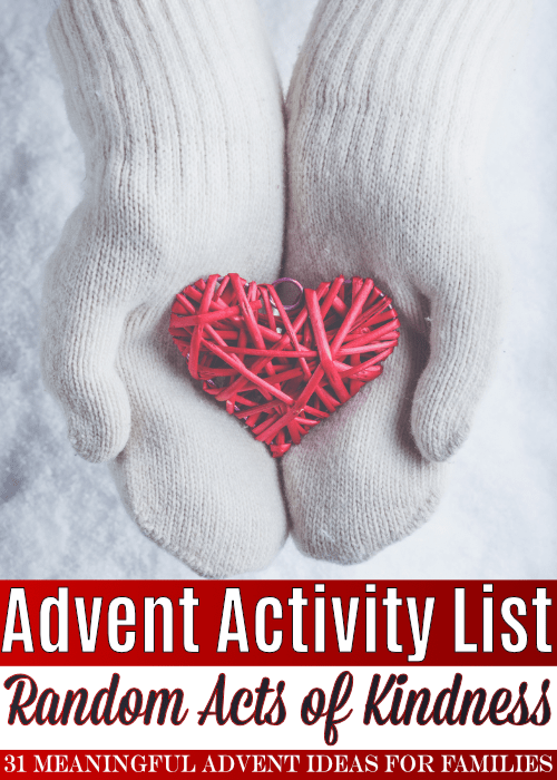 This list of Christmas advent activities for families contains over 30 random acts of kindness to help your children appreciate get excited about the spirit of the season!