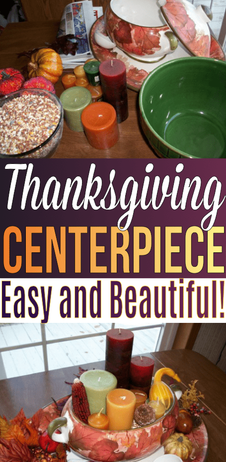 This Thanksgiving Centerpiece is easy to make and is a beautiful addition to any tablescape!