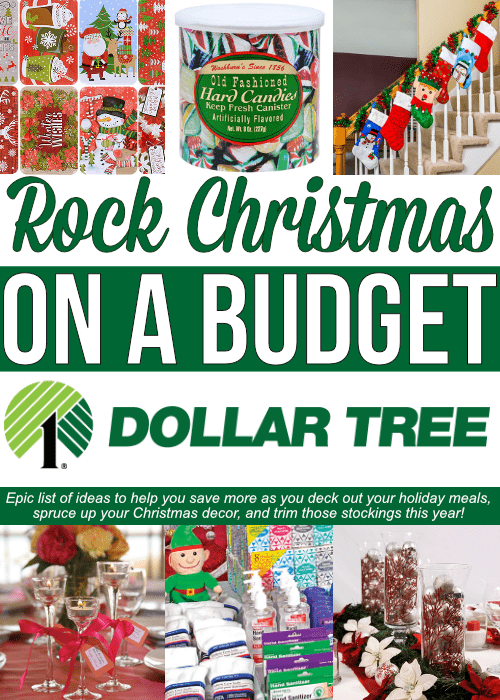 Epic list of Dollar Store Christmas Ideas that will show you how to rock Christmas with the help of the Dollar Store! Stay on budget with these secrets!