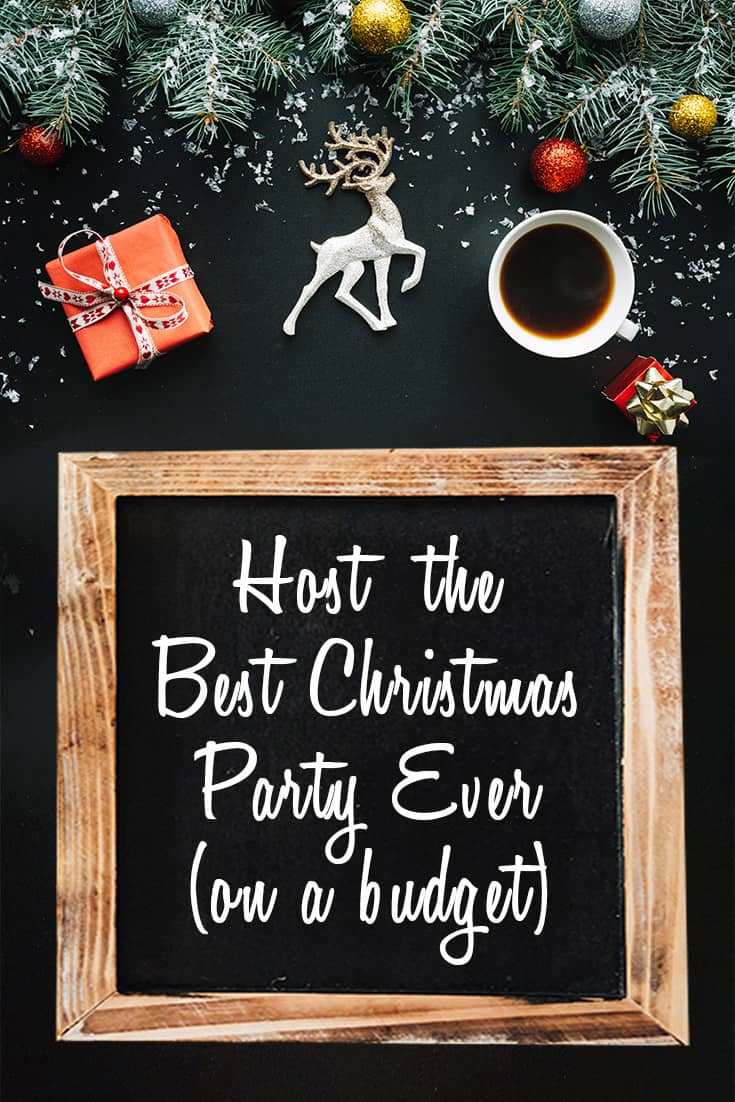 Christmas Party ideas! From the guest list to Christmas party drinks, snacks and treats, this list is chock full of helpful tips to host the best Christmas party ever on a budget!