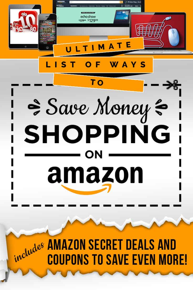 Save money on Amazon with this epic list! Learn about exclusive Amazon coupons, hidden deals, discounted items and other great Amazon savings to use everyday! via @AndreaDeckard