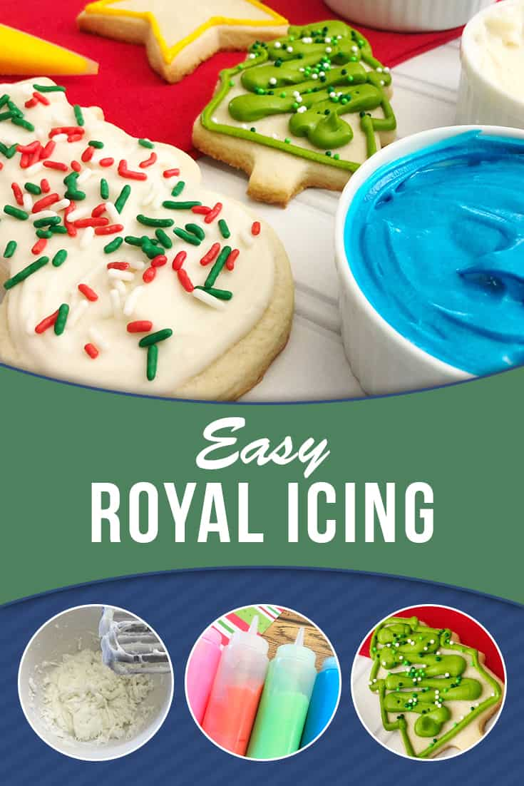 Learn how to make icing with this easy recipe for Royal Icing. Great to use with our sugar cookie recipe. Find all the ingredients to make both in your pantry! via @AndreaDeckard
