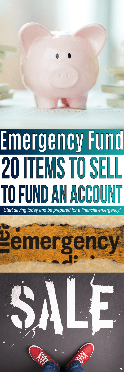 An Emergency Fund Savings account is so important! To start your Emergency Fund, consider selling stuff around your house! Check out these 20 items you can sell to start building an emergency savings fund so you are prepared for a financial emergency.