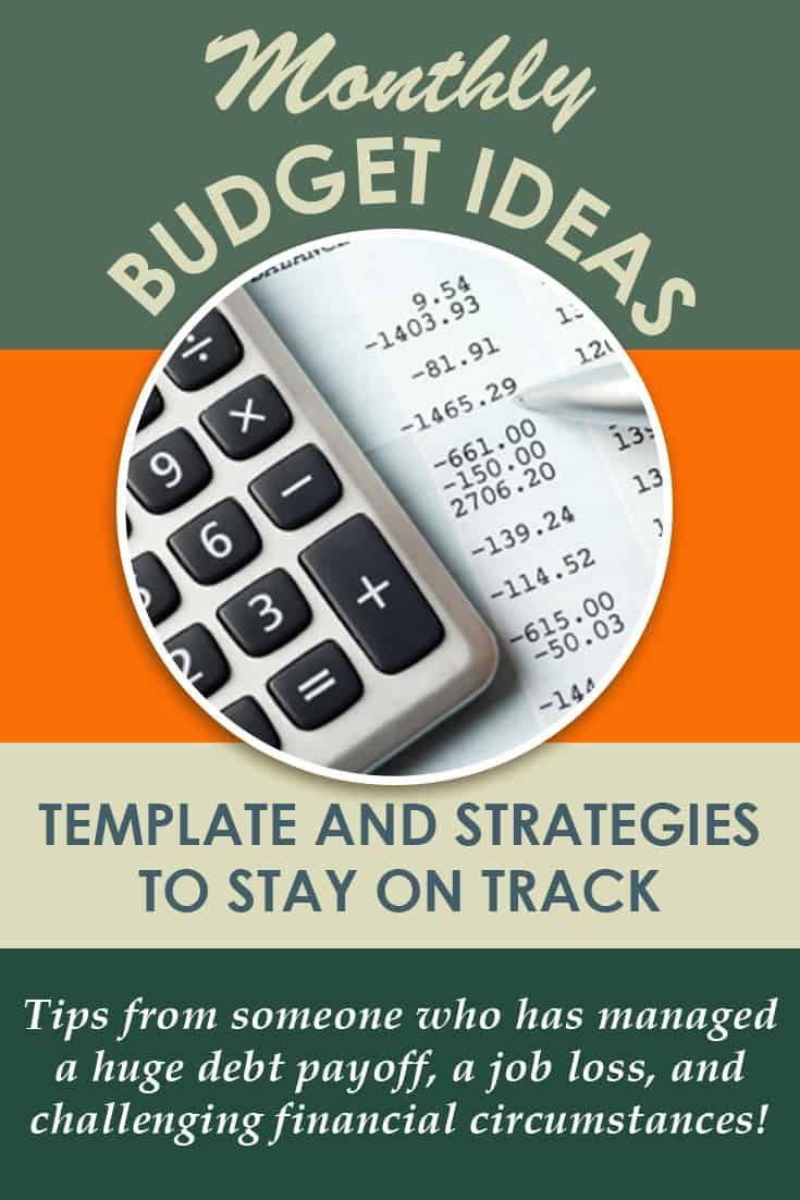 Monthly budget template to help you stay on financial track! These budgeting tips for families are simple to implement and can make a huge difference to your budget! via @AndreaDeckard