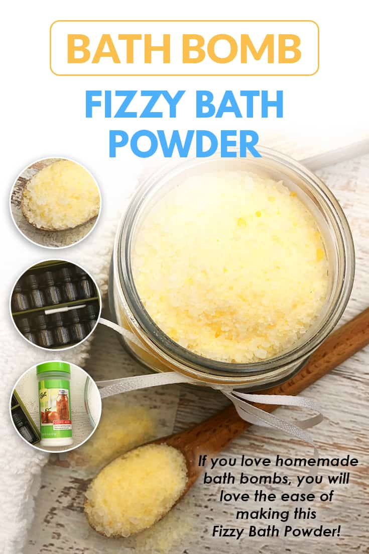 Easy DIY bath bombs fizzy bath powder is great to make if you love bath bombs but don't have the time or patience to prepare into bath bomb molds. This bath bomb dust can be layered to make different scents and will fizz just like a lush bath bomb would! via @AndreaDeckard