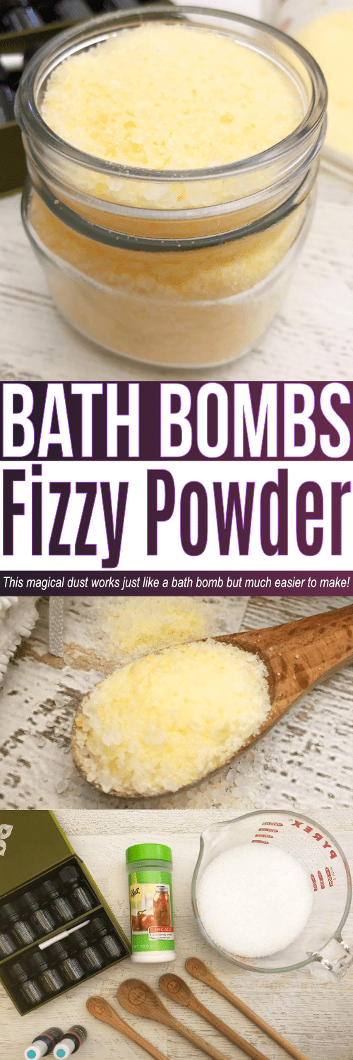 Bath bomb powder is great to make if you love bath bombs but don't have the time or patience to prepare into bath bomb molds. This bath bomb dust can be layered to make different scents and will fizz just like a lush bath bomb would!