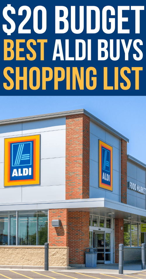 Aldi Shopping tips with a shopping list of the best buys on a $20 budget!