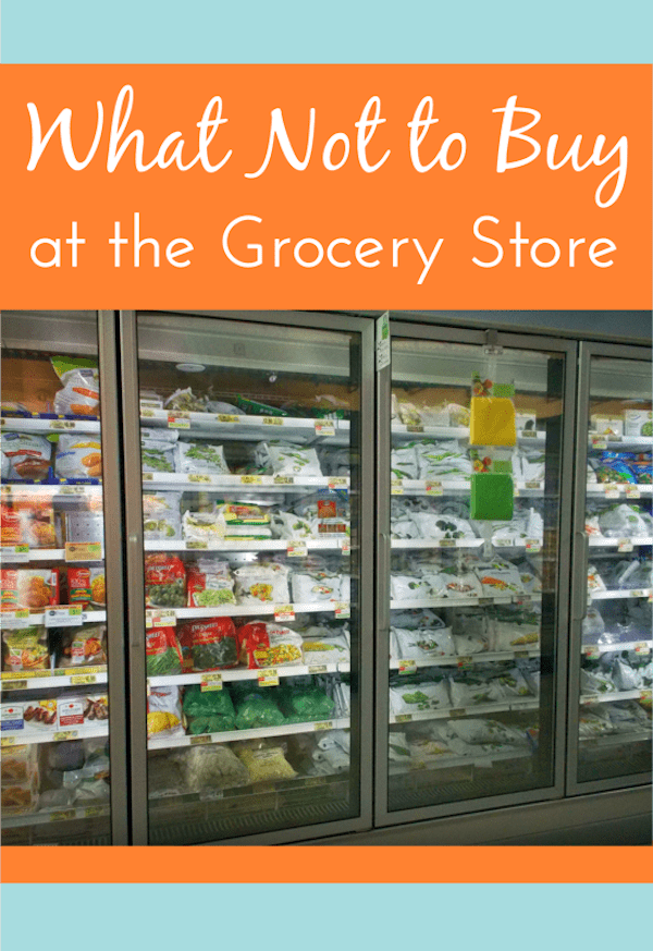 List of things you should never buy at the grocery stores. Discover the best ways to save money on groceries, and what stores to always find the best deals! via @AndreaDeckard