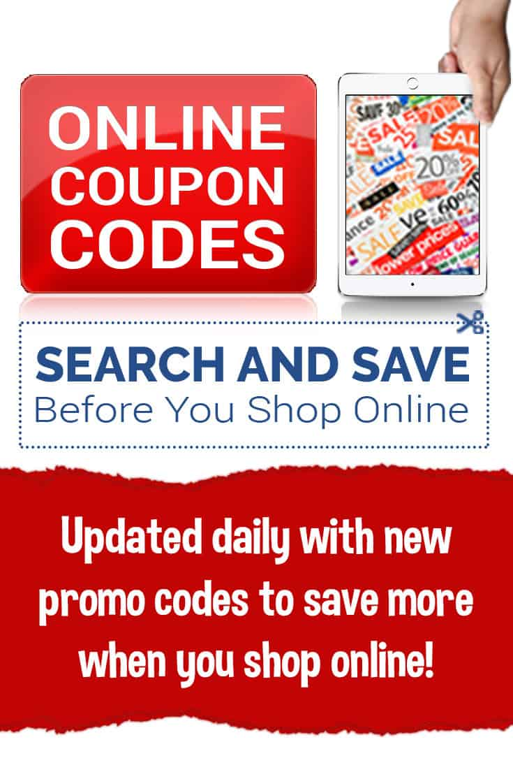 Promo codes are updated daily in this online database! Find online coupon codes to get great discounts, free shipping codes, and other offer codes to save when you shop online!