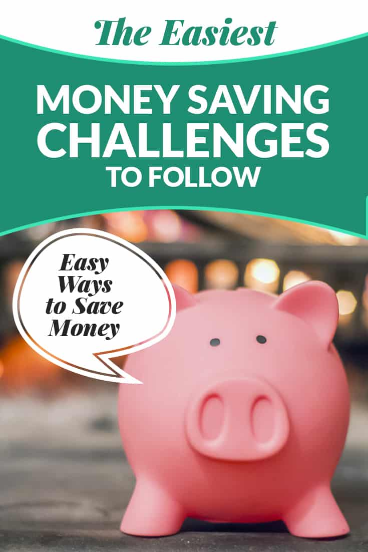 Several saving money challenges outlined including the 52-week money savings challenge, a no spend month or using cash only for a month to help you jump start your savings! via @AndreaDeckard