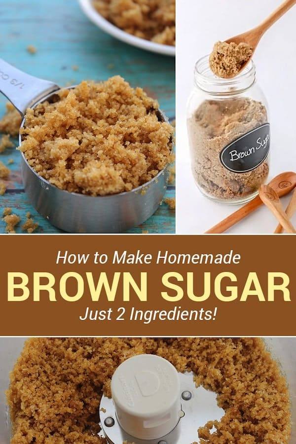 How to make homemade brown sugar in 2 Minutes with just 2 Ingredients! via @AndreaDeckard