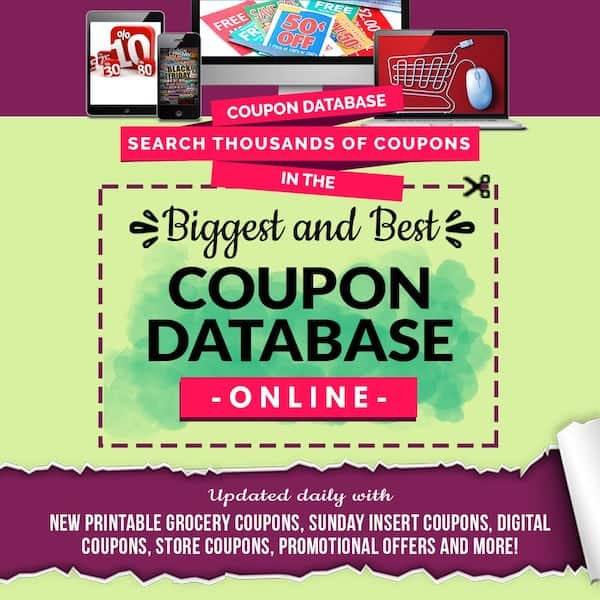 Coupon Database Savings Lifestyle