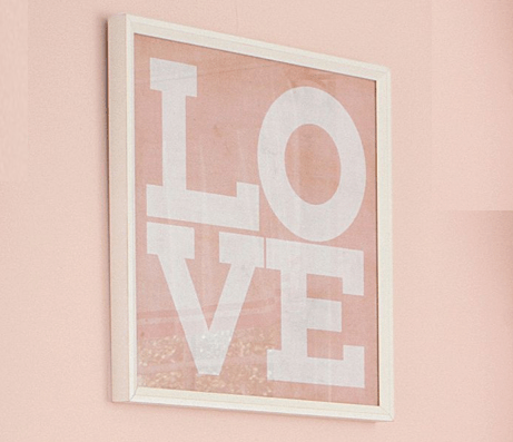 Pottery Barn Pink Love Frame Diy Project