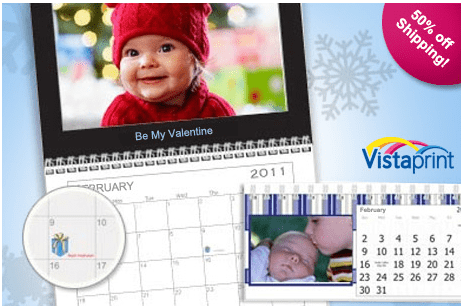 Calendar On Vistaprint Website